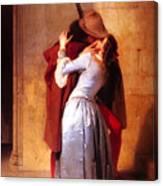 Francesco Hayez Il Bacio Or The Kiss Canvas Print
