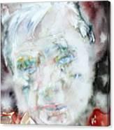 Francis Bacon - Watercolor Portrait.2 Canvas Print