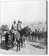 Francisco Pancho Villa (1878-1923). Mexican Revolutionary Leader. Photographed While Reviewing Troops, C1914 Canvas Print