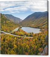 Franconia Notch Autumn View Canvas Print