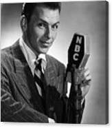 Frank Sinatra At  Nbc Radio Station 1941 Canvas Print