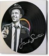 Frank Sinatra Portrait On Lp Canvas Print