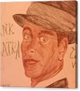 Frank Sinatra - The Voice Canvas Print
