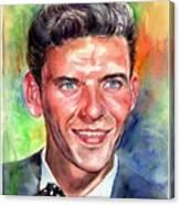 Frank Sinatra Young Watercolor Canvas Print
