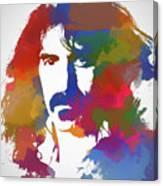 Frank Zappa Watercolor Canvas Print