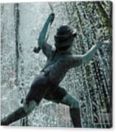 Frankenmuth Fountain Boy Canvas Print
