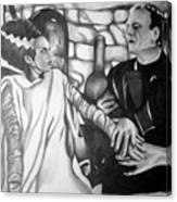 Frankenstein And His Bride Canvas Print