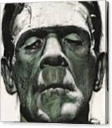 Frankenstein Portrait Canvas Print