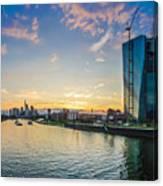 Frankfurt Am Main Skyline At Sunset Canvas Print