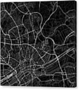 Frankfurt Germany Dark Map Canvas Print
