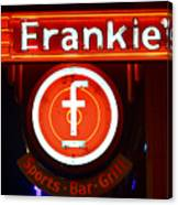 Frankie's Fort Worth Canvas Print