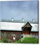 Franklin Barn By The Lake Canvas Print
