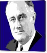 Franklin D. Roosevelt Grayscale Pop Art Canvas Print