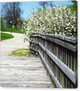Franklin Park Conservatory Footbridge Canvas Print