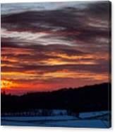 Franklin Sunset  Canvas Print