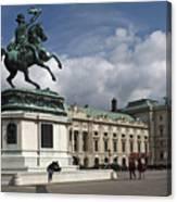 Franz Joseph Equestrian Statue Canvas Print
