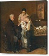 Franz Rumpler  The Letter 1882 Canvas Print