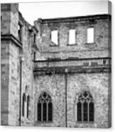Frauenzimmerbau Ruin B W Canvas Print