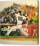 Freaky Tim Lincecum Canvas Print