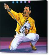 Freddie Mercury Live Canvas Print
