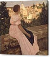 Frederic Bazille   The Pink Dress Canvas Print