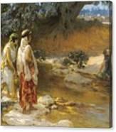 Frederick Arthur Bridgman 1847   1928 American At The Water S Edge Canvas Print