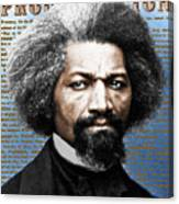 Frederick Douglass And Emancipation Proclamation Painting In Color  Canvas Print
