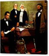 Frederick Douglass Appealing To President Lincoln Canvas Print