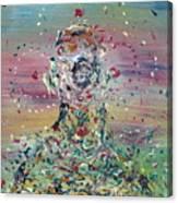 Free Improvisation #4 -saint- Canvas Print