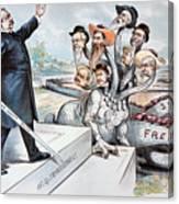 Free Silver Cartoon, 1895 Canvas Print