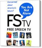 Free Speech Tv Canvas Print
