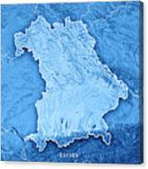 free state of bavaria germany 3d render topographic map blue bor canvas print