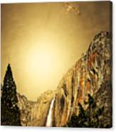 Free To Soar The Boundless Sky . Portrait Cut Canvas Print