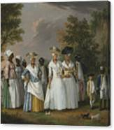Free Women Of Color With Their Children And Servants In A Landscape Canvas Print