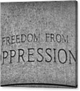 Freedom From Oppression Canvas Print