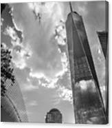 Freedom Tower Bw Canvas Print