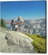 Freedom Woman At Glacier Point Canvas Print