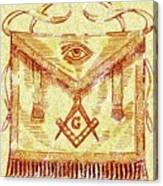 Freemason Symbolism Canvas Print