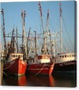 Freeport Shrimper Fleet Canvas Print