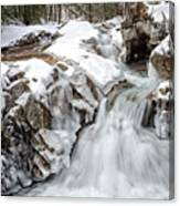 Freeze On The Basin Trail Nh Canvas Print