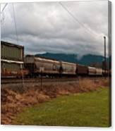 Freight Rain Canvas Print