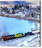 Freight Train At Oyama Canvas Print