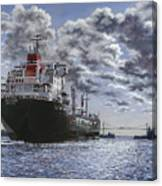 Freighter Inviken Canvas Print