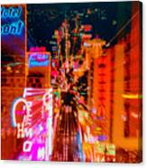 Fremont Street For One From The Heart Canvas Print