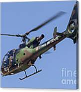 French Army Gazelle Helicopter Canvas Print