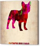 French Bulldog Poster Canvas Print