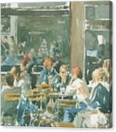 French Cafe Scene  Canvas Print