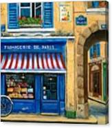 French Cheese Shop Canvas Print