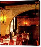 French Country Restaurant Canvas Print