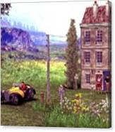 French Countyside  Scene Canvas Print
